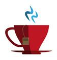 hot tea cup icon vector image