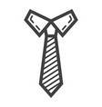 tie line icon business and necktie vector image