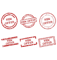 New offer stamps vector image