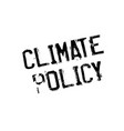 climate policy rubber stamp vector image