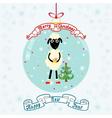 Christmas ball with sheep vector image
