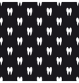 Black and white teeth seamless pattern vector image