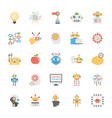 artificial intelligence flat icons set vector image