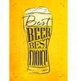 Poster best beer yellow vector image
