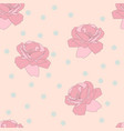 seamless pink rose and confetti pattern flower vector image