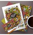 Cartoon art corporate identity set vector image