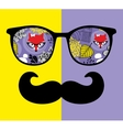 Abstract face of man in glasses vector image