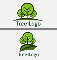 Circle Tree Logo Templates vector image