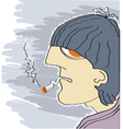 Smoking man vector image vector image