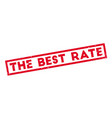 the best rate rubber stamp vector image