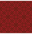 Red floral seamless wallpaper pattern vector image vector image