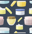 cream jar pattern vector image