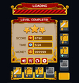 Medieval game GUI pack 4 vector image