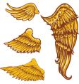 Tattoo style wings illustrations colle vector image