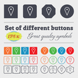 map poiner icon sign Big set of colorful diverse vector image