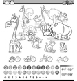 calculating animals activity vector image vector image