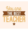 Happy teachers day typography vector image