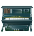 Old broken Grand piano with bullet holes vector image vector image