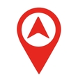 arrow location pin isolated icon design vector image