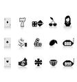 black gambling icon vector image