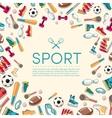 Circular concept of sports equipment sticker vector image