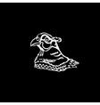 Hand-drawn pencil graphics bird pheasant Linocut vector image