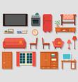 home art studio interior for artist vector image