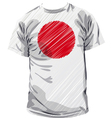 Japanese tee vector image