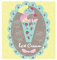 Logo sweet icecream vector image