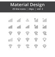 material design signal line icons vector image