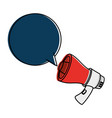 megaphone sound with speech bubble vector image