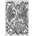 phoenix engraved fantasy vector image