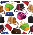 Seamless womans fashion bags background vector image