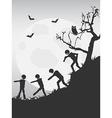 spooky halloween zombies background vector image