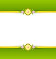 Spring floral decoration background vector image