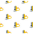 Yellow cordless reciprocating saw pattern flat vector image