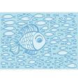 Cute cartoon hand drawn fish vector image