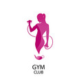 fitness club color icon vector image