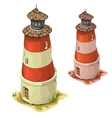 Old tower lighthouse on a white background vector image