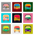 flat assembly icons of car gifts vector image