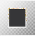 photo frame with gold stars vector image