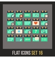 Flat icons set 16 vector image