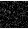 Seamless womans fashion accessory sketch vector image