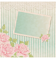 Vintage background with roses and photoframe vector image