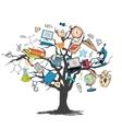 Education icon doodle tree vector image vector image