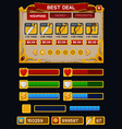 Medieval game GUI pack 5 vector image