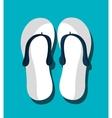 Flip flops graphic icon vector image