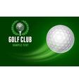 Golf Card vector image