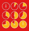 chronometer clip-art Flat design elements vector image vector image