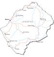 Lesotho Black White Map vector image